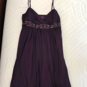 Dark purple: City Triangles dress